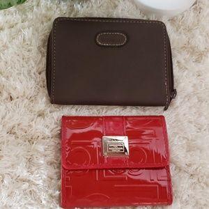 Liz Claiborne/Rosetti Red Brown Wallet